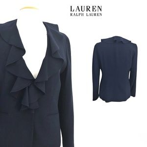 Lauren Ralph Lauren Navy/Black Jacket 100% Wool 6